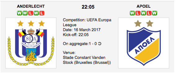 Anderlecht vs. APOEL - Europa League Preview