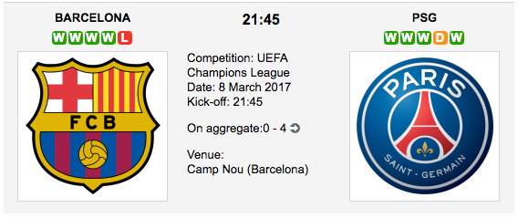Barcelona vs. PSG - UCL betting preview and tips