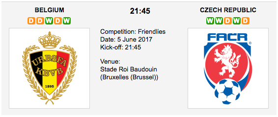Belgium vs Czech Republic - WORLD: Friendly International