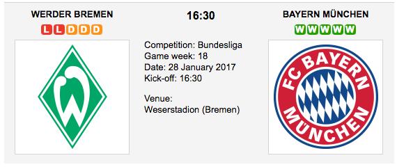 Werder Bremen vs. Bayern München - Bundesliga: Preview and Tips