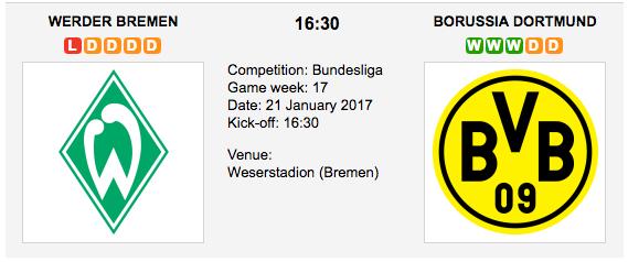 Bremen vs Dortmund - Bundesliga: Preview and Tips