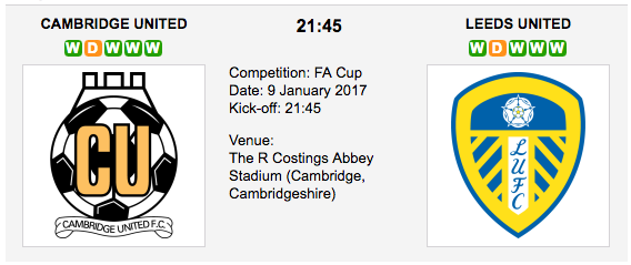 Cambridge vs. Leeds United - Betting Preview FA Cup