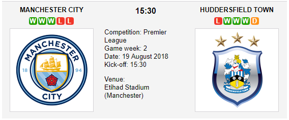 Manchester City vs. Huddersfield Town - Premier League Preview & Tips