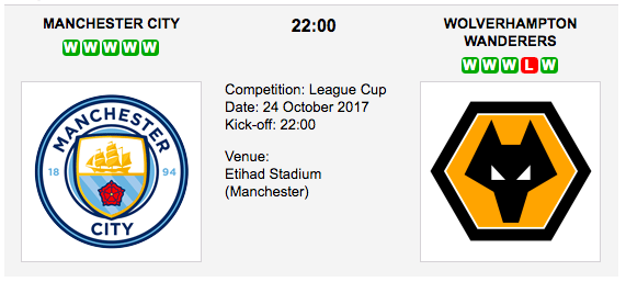 Man City vs Wolverhampton - League Cup Preview & Tips