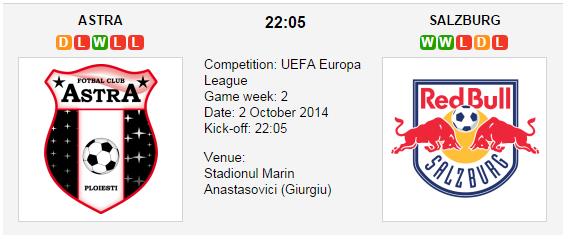 Astra vs. Salzburg - Europa League Preview