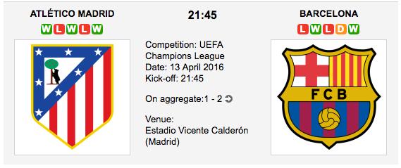 Atletico Madrid vs Barcelona: Champions League Preview