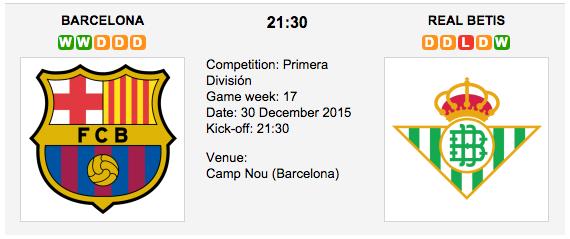 Barcelona vs. Real Betis