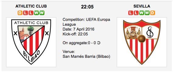 Athletic Bilbao vs Sevilla FC
