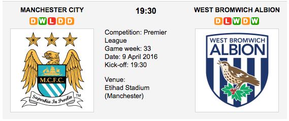 Manchester City vs. West Bromwich Albion