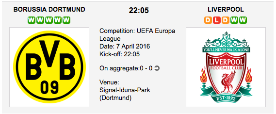 Borussia Dortmund vs Liverpool Preview