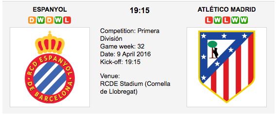 Espanyol vs. Atlético Madrid