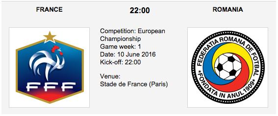 France vs. Romania - Group A EURO 2016
