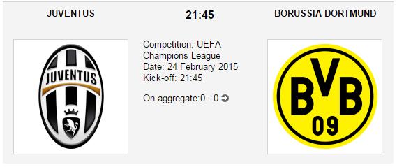 Juventus vs. Borussia Dortmund