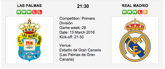 Las Palmas vs Real Madrid Preview