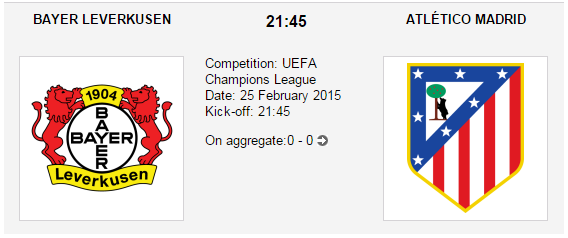 Bayer Leverkusen vs. Atlético Madrid