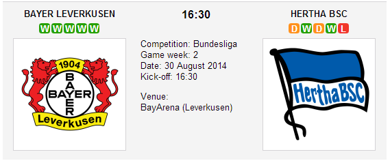 Bayer Leverkusen vs. Hertha Berlin
