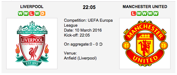 Liverpool vs. Man. United - Europa League Preview