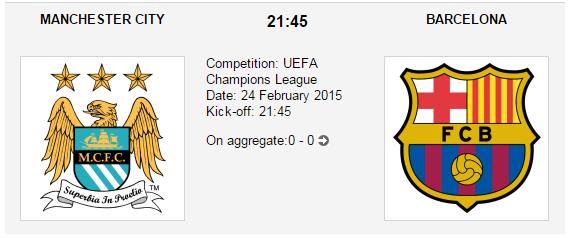Manchester City vs. Barcelona