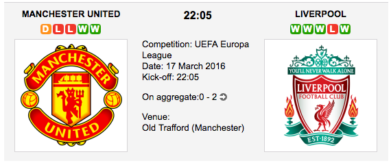 Manchester United vs. Liverpool - UEL Match Preview