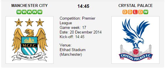 Manchester City vs. Crystal Palace