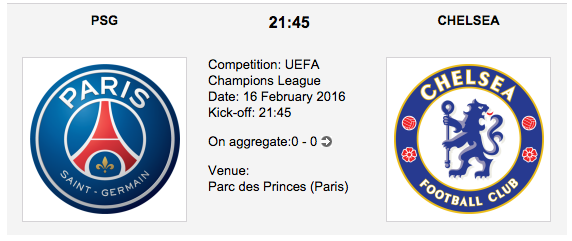 PSG vs. Chelsea - Champions League Preview 2016