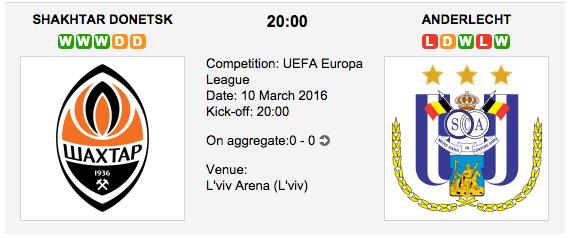 Shakhtar Donetsk vs. Anderlecht - Europa League Preview