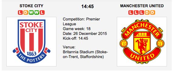 Stoke City vs. Man. United
