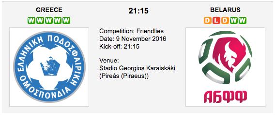 Greece vs Belarus: Friendly Match Preview