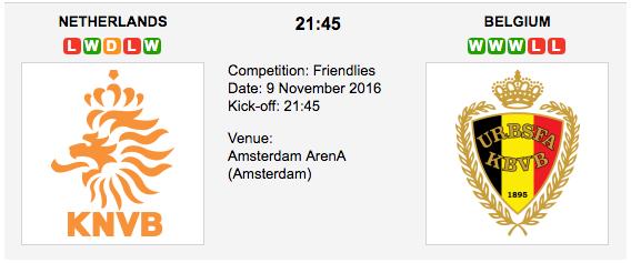 Netherlands vs Belgium: Friendly Match Preview