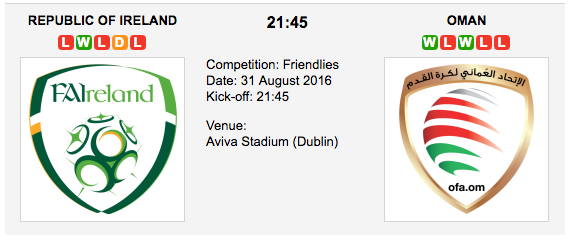 Republic of Ireland vs Oman: Friendlies Preview