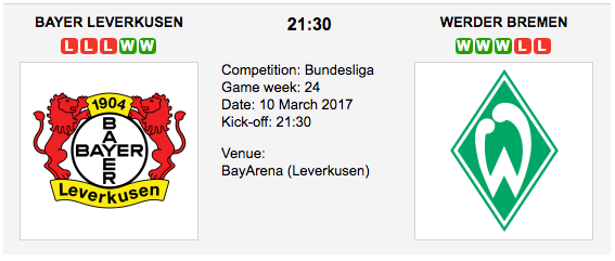 Bayer Leverkusen vs. Werder Bremen - Bundesliga: Preview and Tips