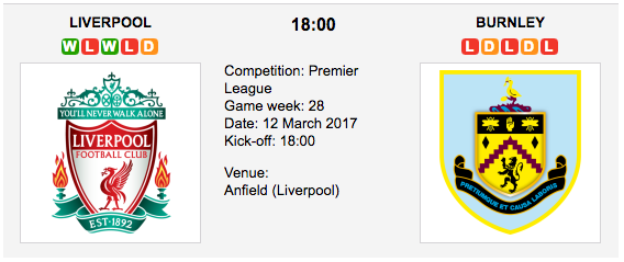 Liverpool vs. Burnley  -  Premier League Preview & Tips