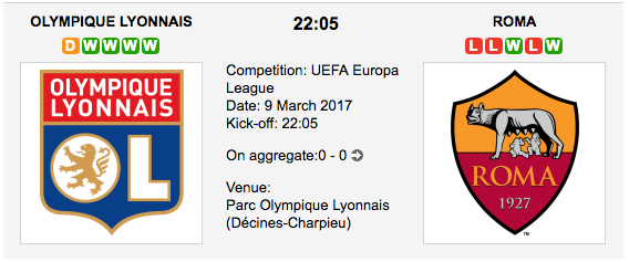 Olympique Lyon vs. Roma - Europa League Preview