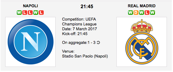 Napoli vs. Real Madrid - UCL betting preview and tips