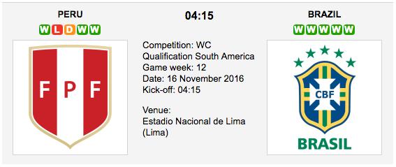 Peru vs. Brazil: World Cup 2018 Qualifiers Preview
