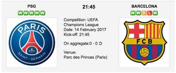 PSG vs. Barcelona - UCL betting preview and tips