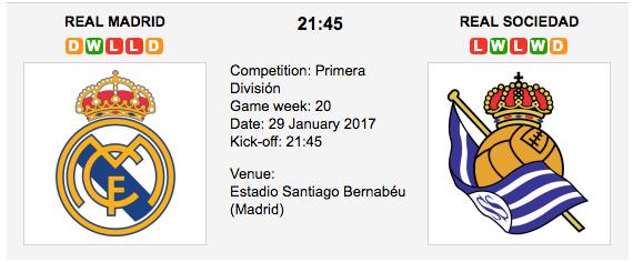 Real Madrid vs Real Sociedad - Betting Preview La Liga