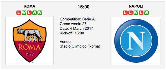 AS Roma vs. Napoli -  Betting Preview & Tips - Serie A