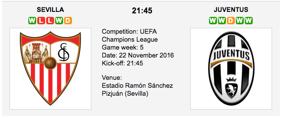 Sevilla vs. Juventus - Champions League Preview & Tips