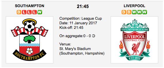 Southampton vs Liverpool - Betting Preview English – Football League Cup