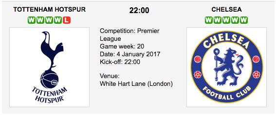 Tottenham Hotspur vs. Chelsea: Betting preview - 04/01/2017 EPL