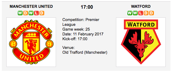 Man United vs. Watford -Premier League Preview & Tips
